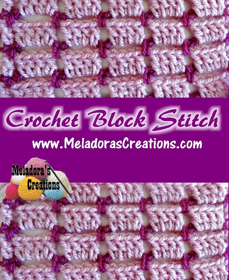 Crochet Block Stitch PINTEREST