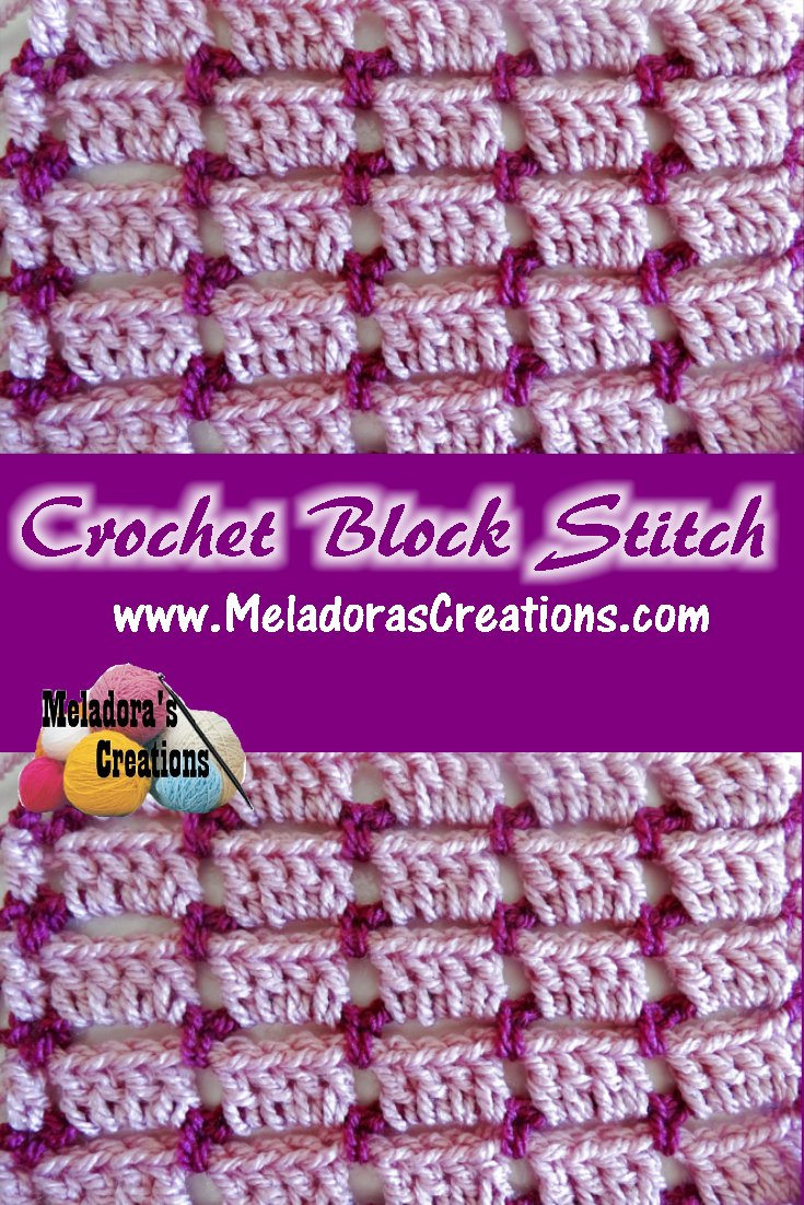 Crochet Block Stitch Free Crochet Pattern Meladoras Creations