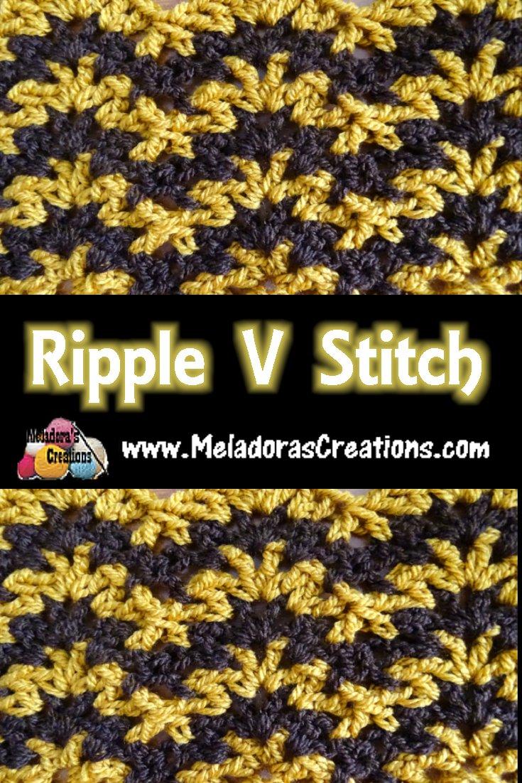 Ripple V Stitch – Free Crochet Pattern and Tutorial