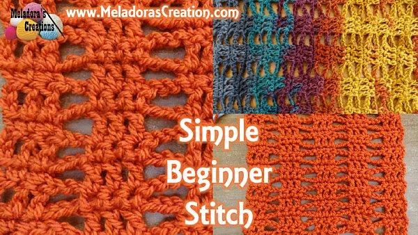 Simple Beginner Stitch Free Crochet Pattern Meladoras Creations