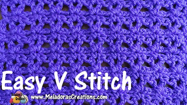 Easy V Stitch Free Crochet Pattern Meladoras Creations