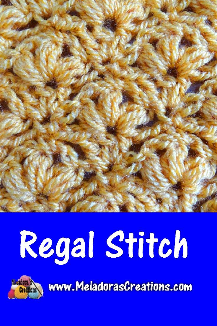 Regal Crochet Stitch – Free Crochet Pattern