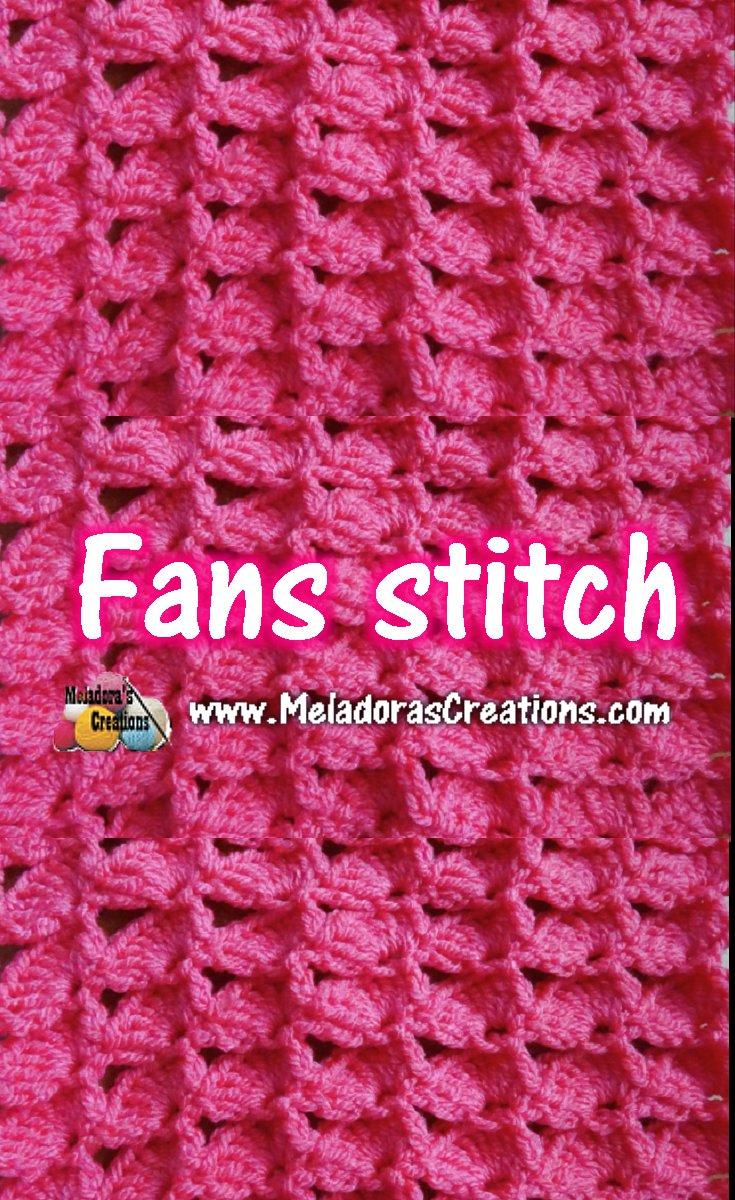 Fan Crochet Stitch - Crochet Stitch Pattern and Tutorial