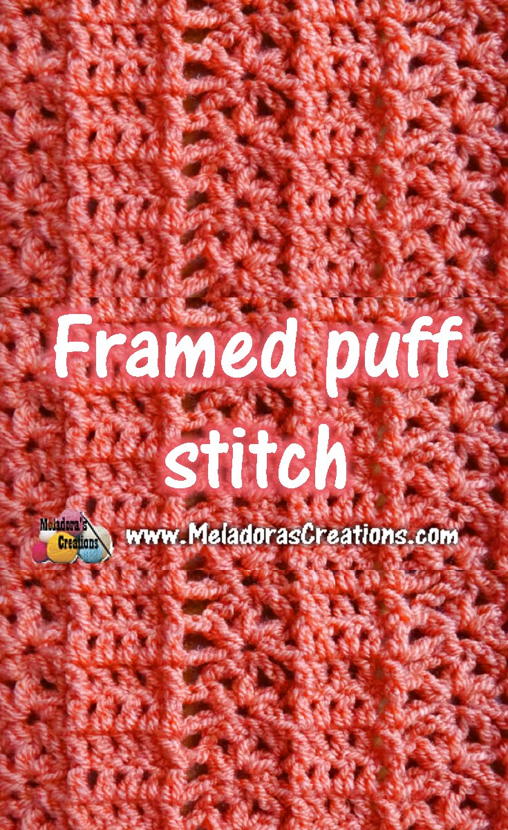 Framed Puff Crochet Stitch Tutorials