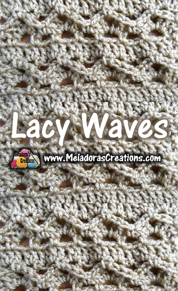Lacy Waves Crochet Stitch Pattern and Tutorial