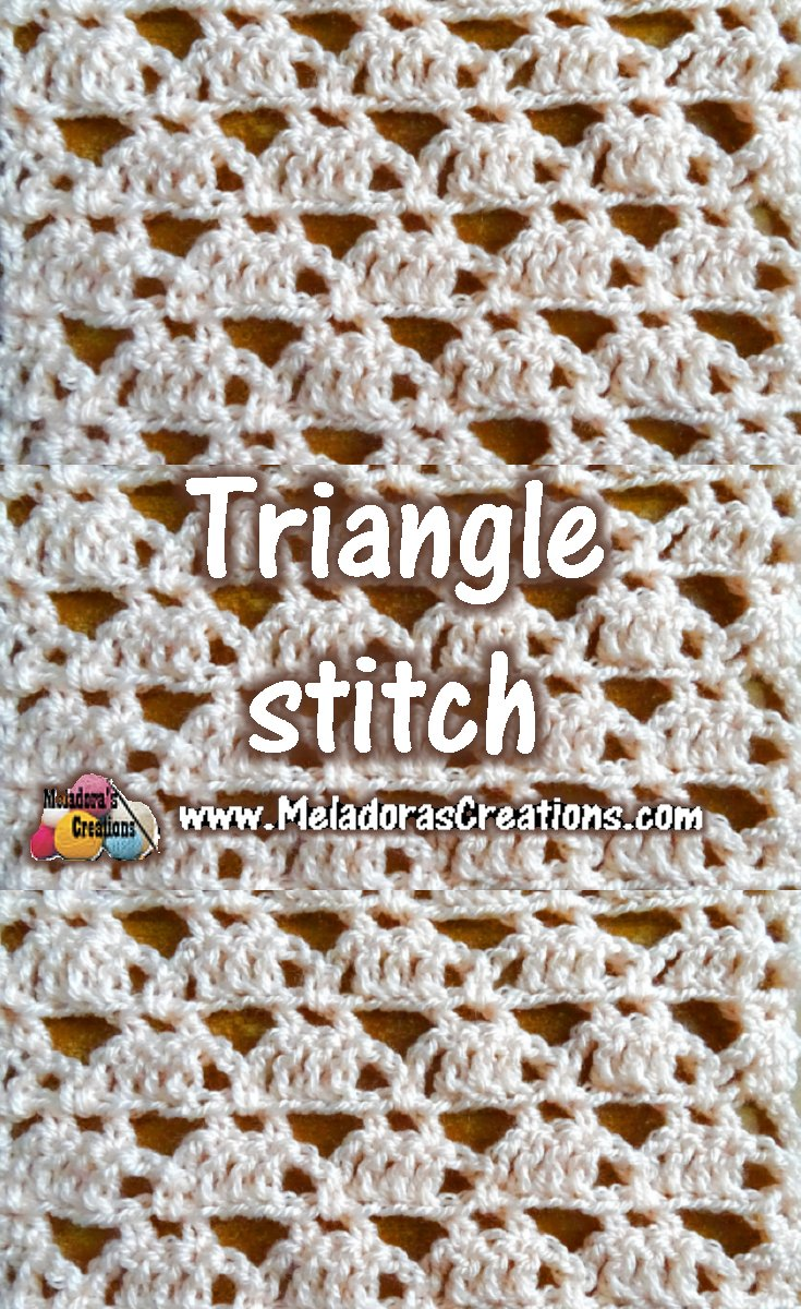 Triangle stitch - Crochet Tutorials