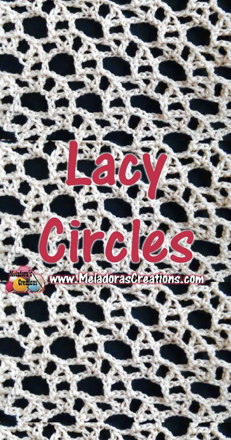 Lacy Circles Crochet Stitch - Free Crochet Pattern