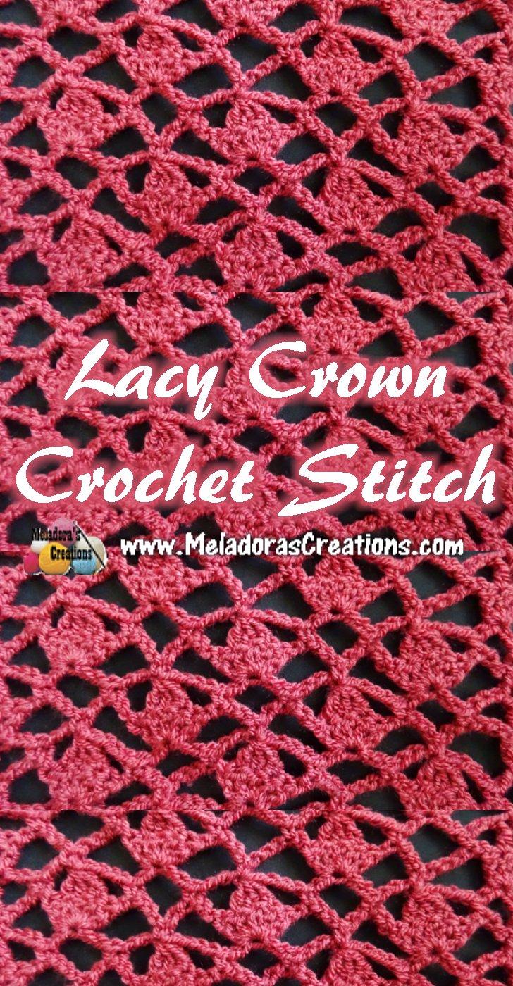 Lacy Crown Crochet Stitch - Crochet Tutorials