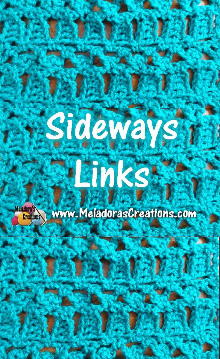 Sideways Links - Crochet Stitch Tutorials