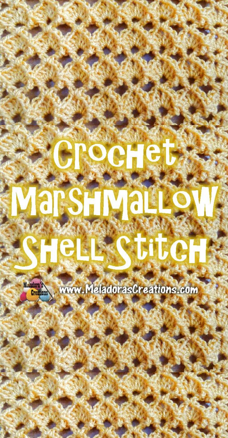 Marshmallow Shell Crochet Stitch Pattern and Tutorial