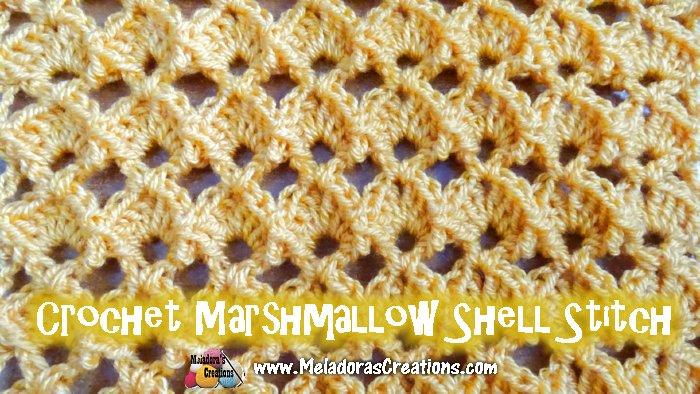 Marshmallow Shell Crochet Stitch Tutorial Meladoras Creations