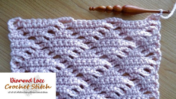Diamond Lace Crochet Stitch – Free Crochet Pattern