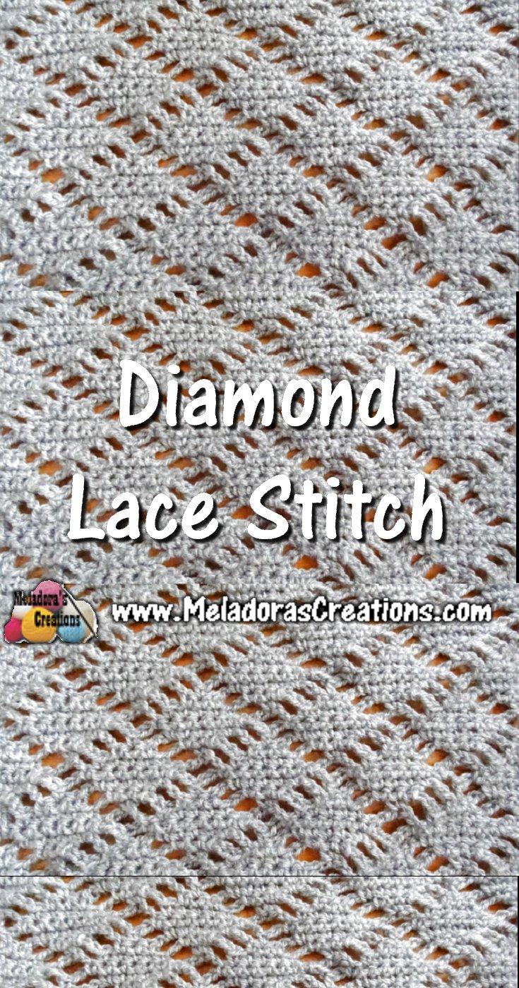 Meladora\'s Creations – Diamond Lace Crochet Stitch – Crochet ...