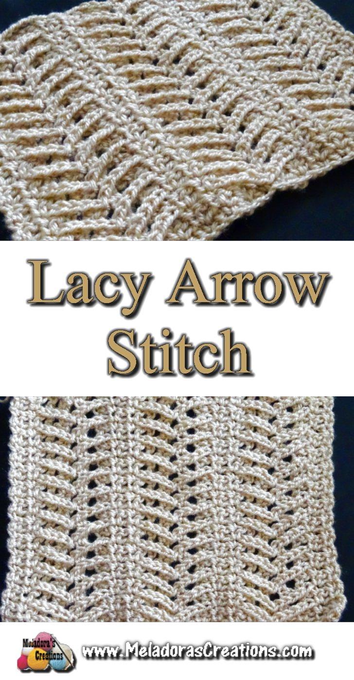 Lacy Arrow Crochet Stitch - Free Crochet Pattern and Tutorial