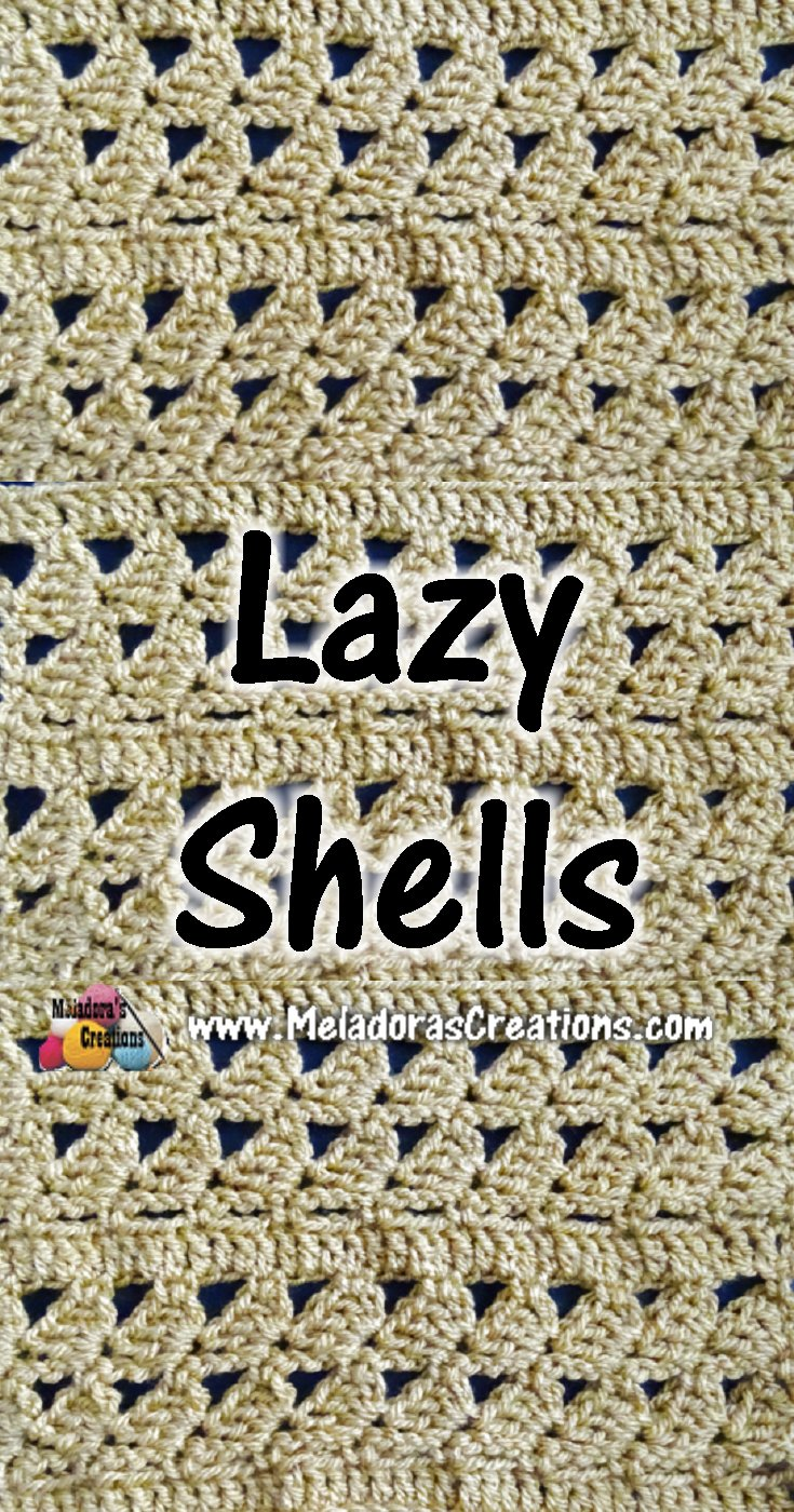 Lazy Shells Crochet Stitch Tutorials