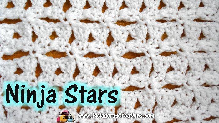 Ninja Stars Crochet Stitch Tutorials