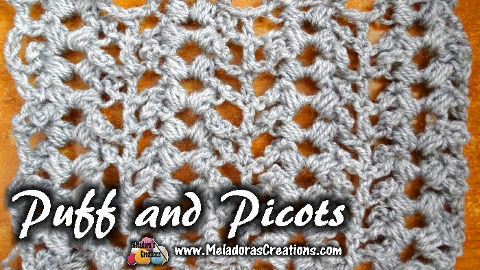 Puff and Picots Crochet Stitch Tutorials