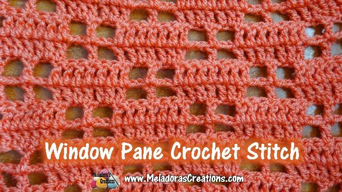 Window Pane Crochet Stitch Pattern and Tutorial - Mesh Filet Crochet Stitch