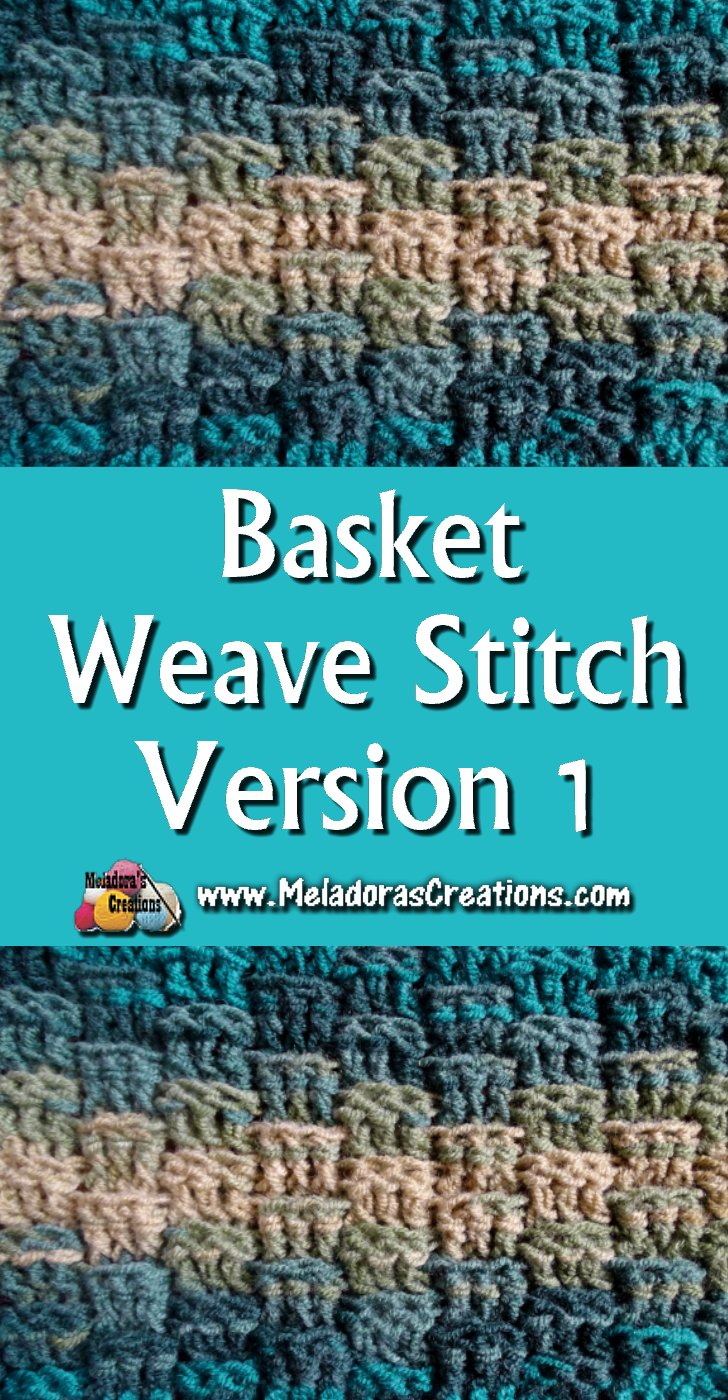 Basket Weave Crochet Stitch Version 1- Crochet Pattern & Tutorial