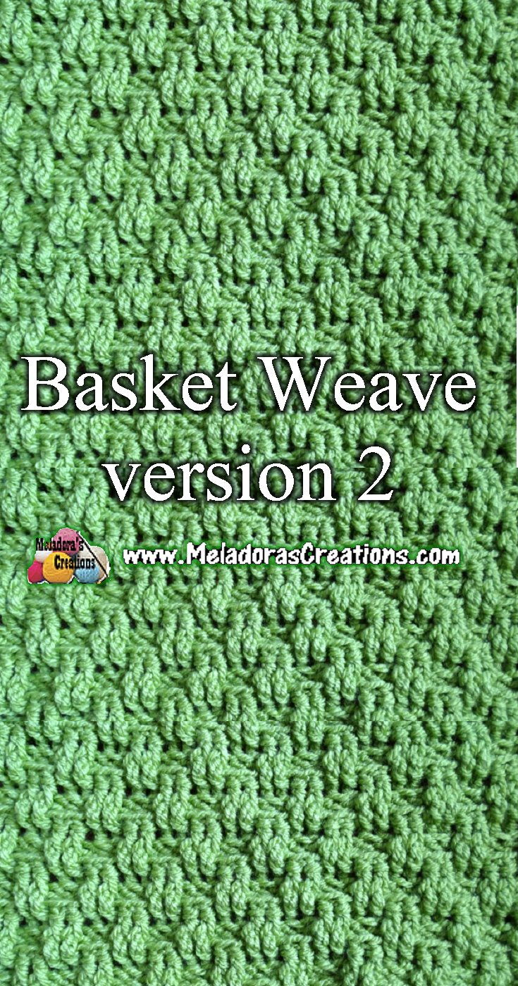 Basket Weave Crochet Stitch Version 2 - Crochet Stitch Tutorial