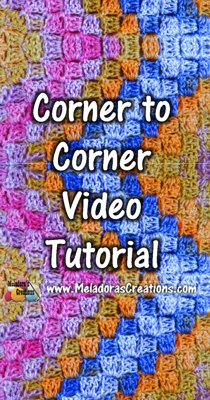 Corner to Corner Crochet Stitch Tutorial