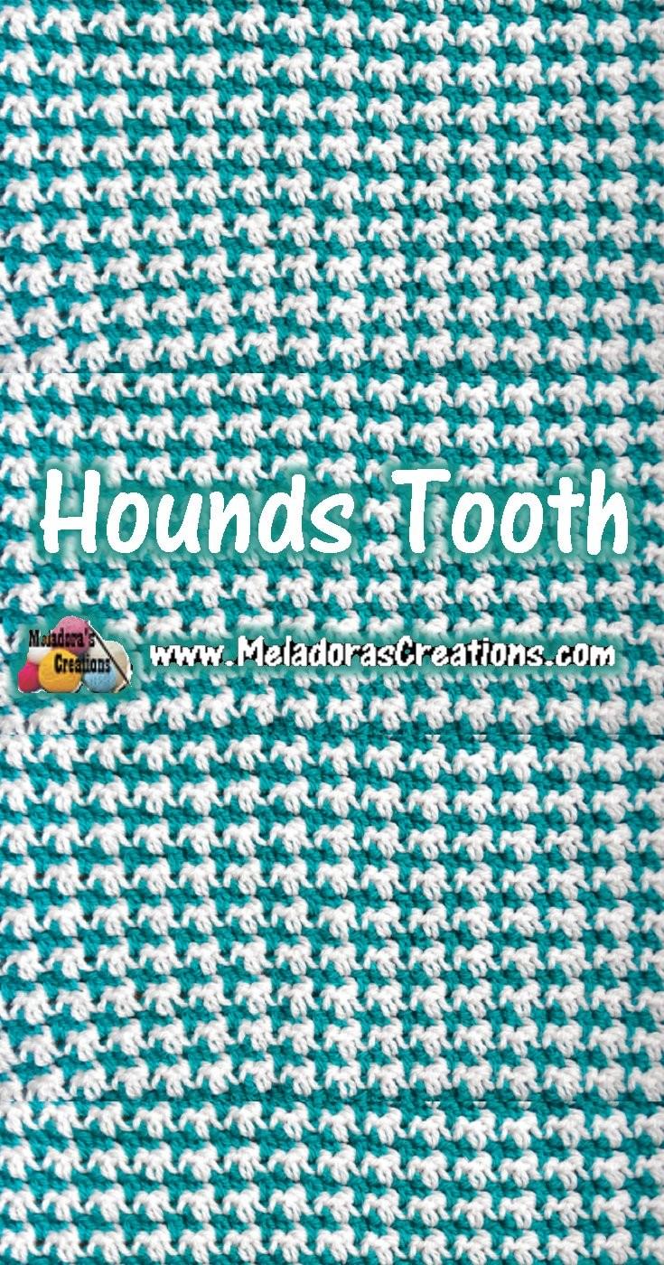 Hounds Tooth Crochet Stitch Tutorials