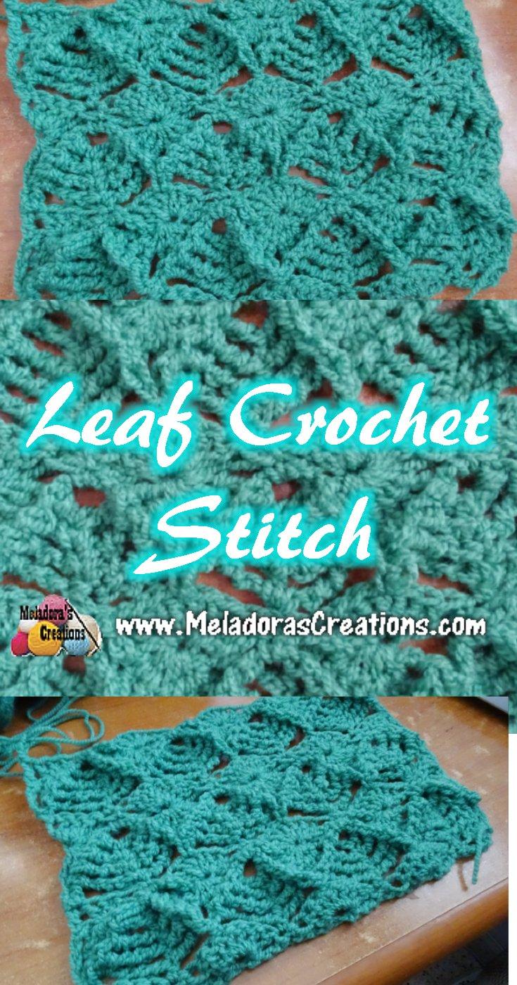 Leaf Crochet Stitch Tutorials