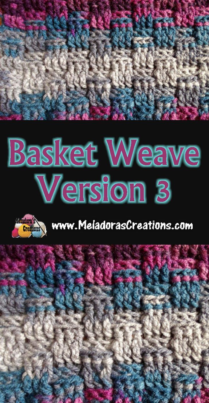 Basket Weave Stitch Version 3 Crochet Stitch Tutorials