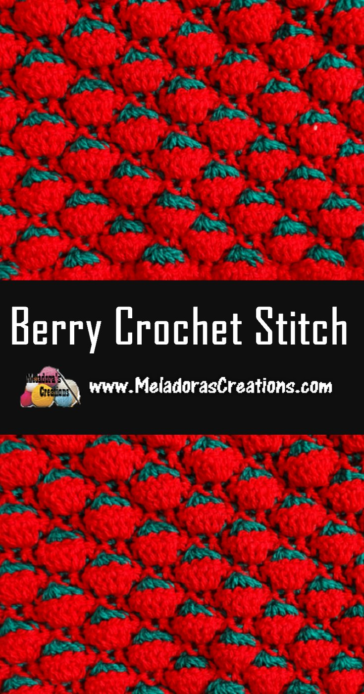 Berry Crochet Stitch - Free Crochet Pattern and Tutorial
