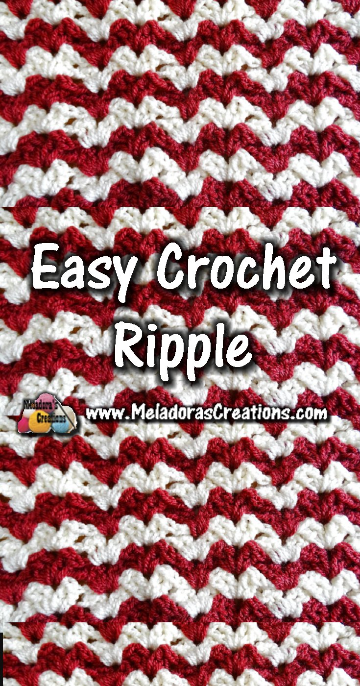 Easy Crochet Ripple - Crochet Stitch Pattern & Tutorial