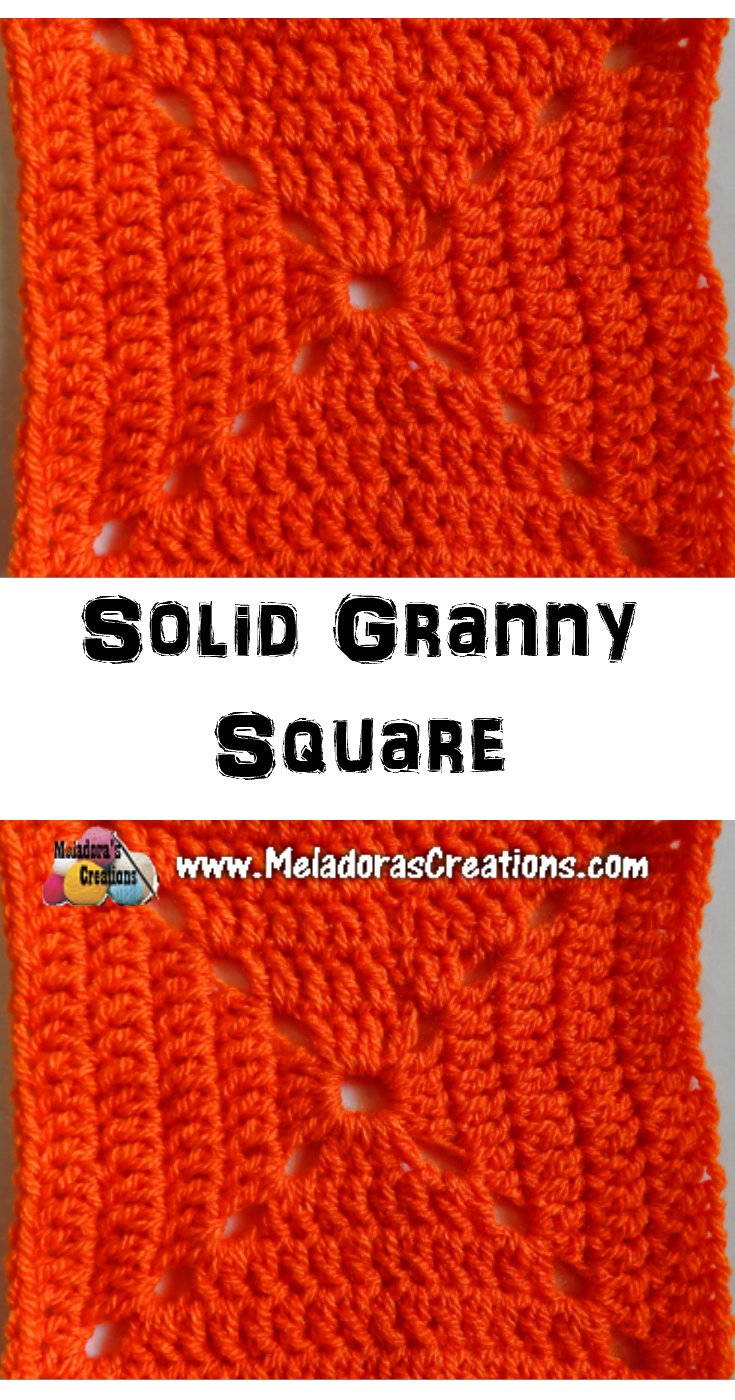 Solid Granny Square Crochet Pattern and Tutorial