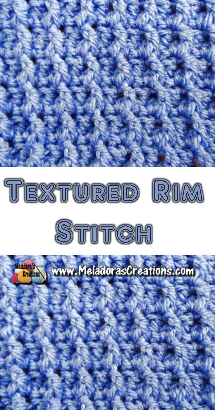Textured Rim Crochet Stitch Tutorials