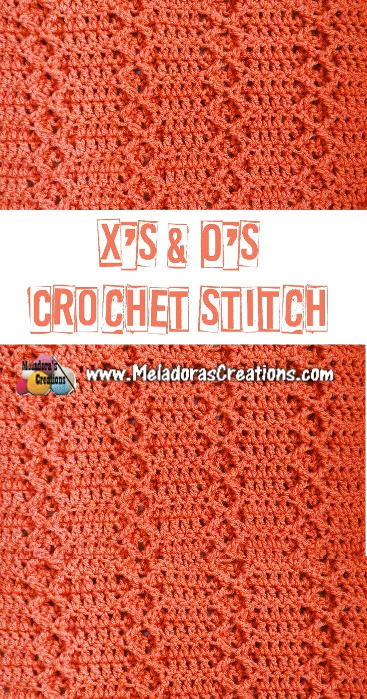 X's & O's Crochet Stitch Tutorial