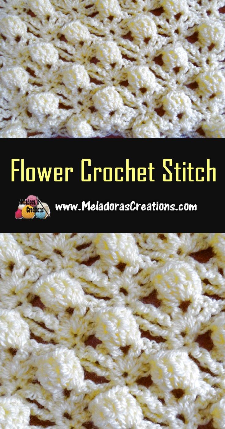 Flower Crochet Stitch Pattern & Tutorial