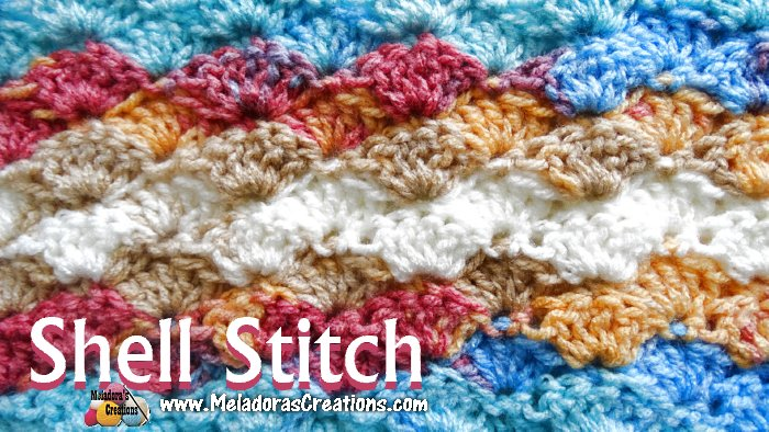 Amigurumi Stitch Tutorial : Meladoras creations shell crochet stitch u crochet pattern and