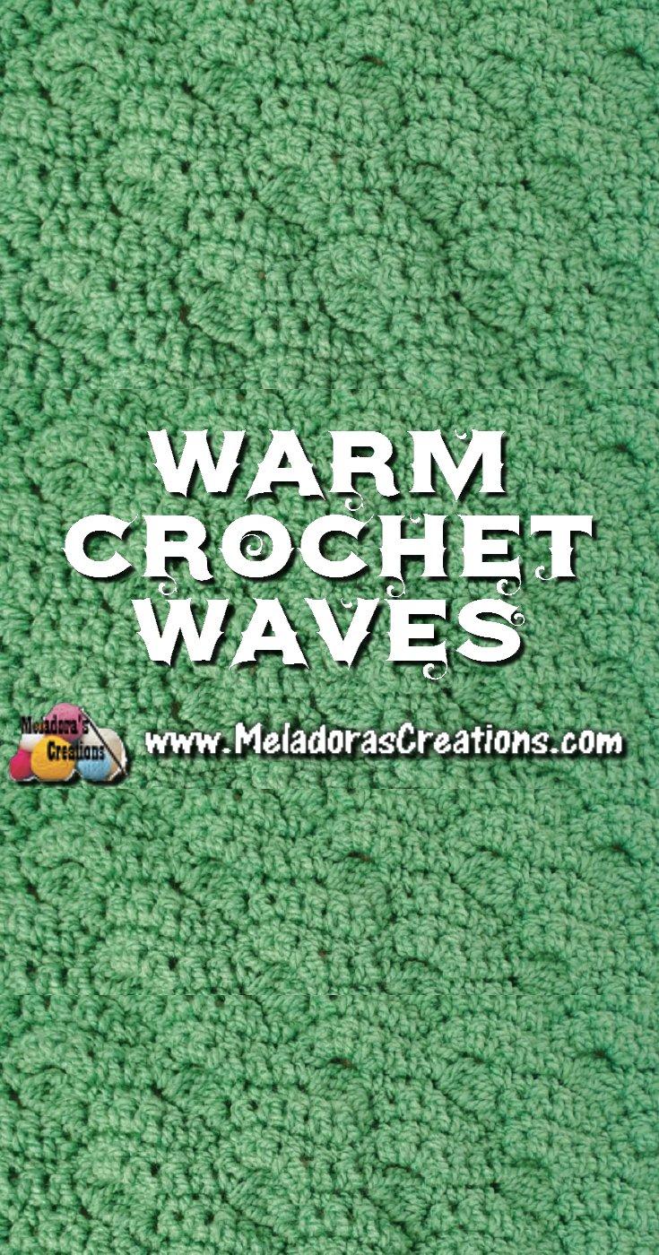 Warm Waves Crochet Stitch Pattern and Tutorials