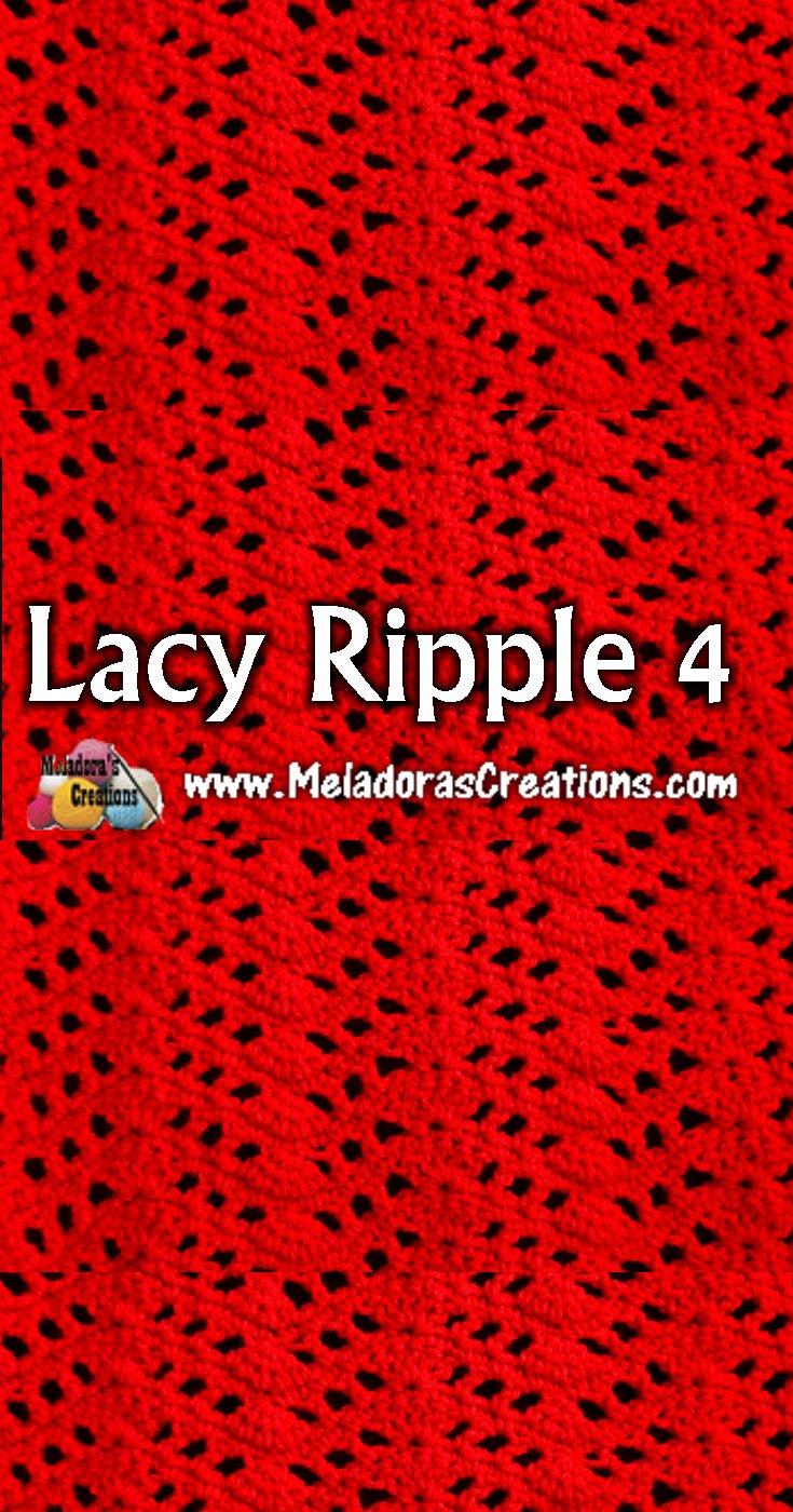 Lacy Ripple 4 Crochet Stitch Tutorial