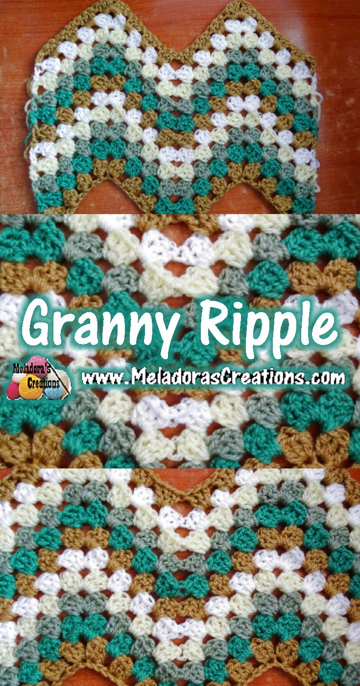 Granny Ripple Crochet Stitch Free Crochet Pattern And Tutorial
