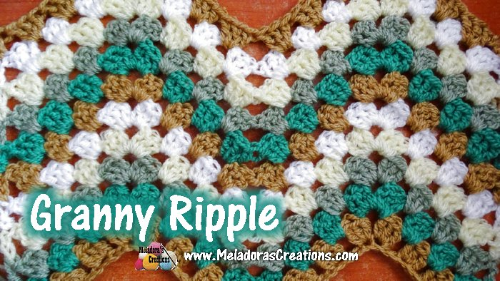 Amigurumi Stitch Tutorial : Meladoras creations u granny ripple crochet stitch tutorial