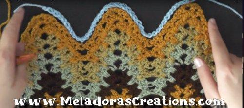V Stitch Ripple Crochet Stitch - Free Crochet Pattern