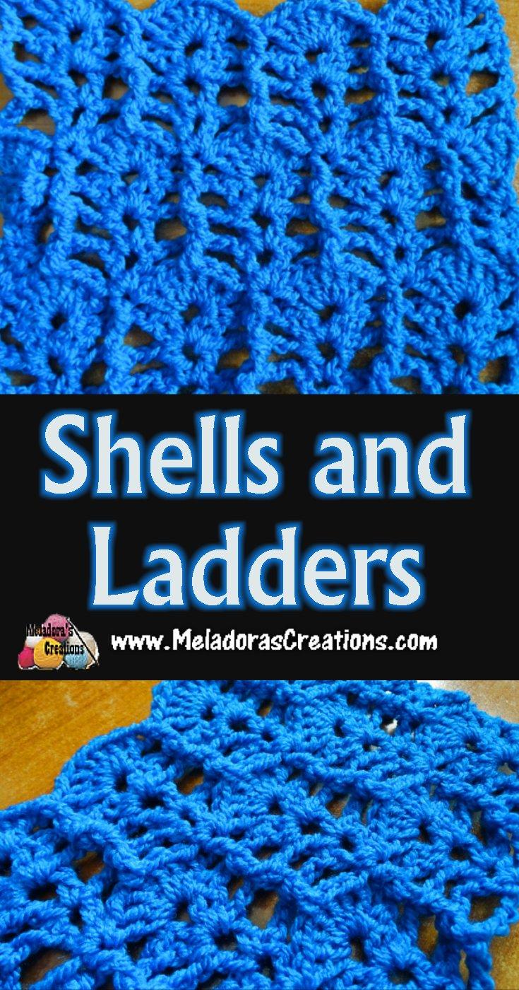 Shells and Ladders Crochet Stitch Tutorial