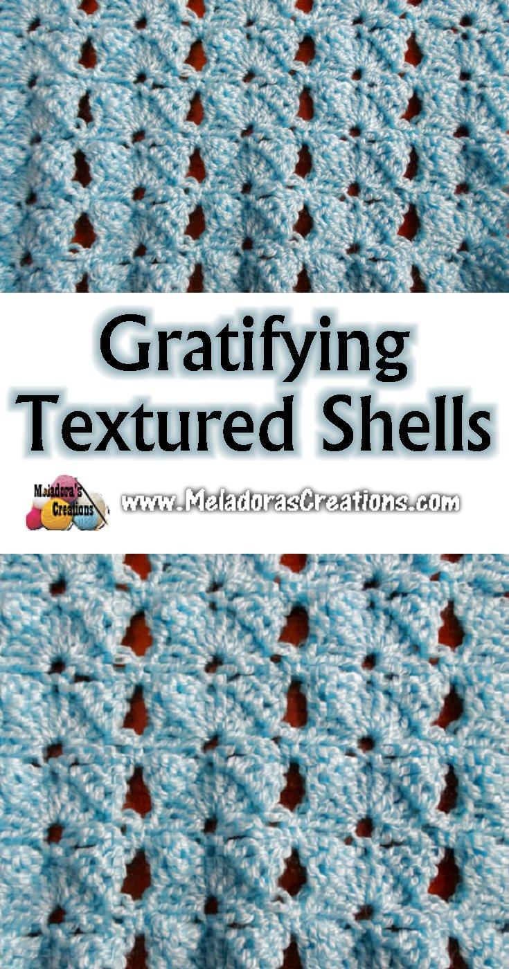 Gratifying Textured Shells Crochet Stitch- Free Crochet Pattern and Tutorial
