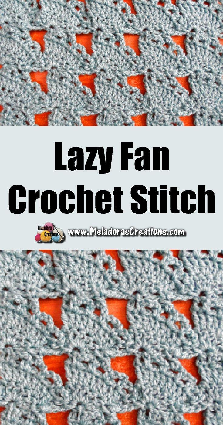 How to Crochet Fan Stitch - Lazy Fan Crochet Stitch - Free Crochet Stitch Pattern