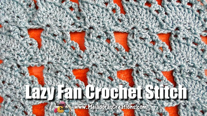 Amigurumi Stitch Tutorial : Meladoras creations u lazy fan crochet stitch tutorial