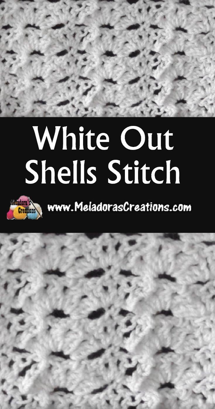 Whiteout Shells Crochet Stitch - Free Crochet Pattern and Tutorial