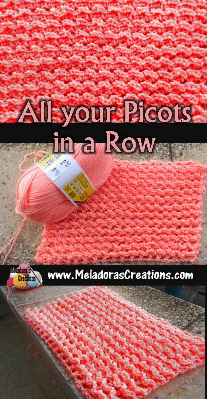 Warm Crochet Stitch - All your Picots in a Row - Free Crochet Stitch Pattern