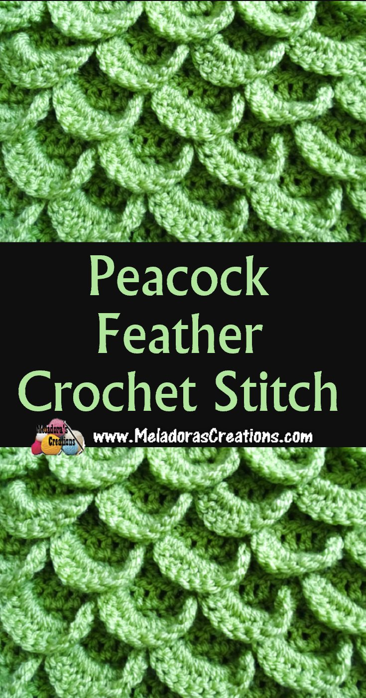 Free Crochet Book Cover Patterns ~ Peacock feather crochet stitch free crochet pattern and tutorial