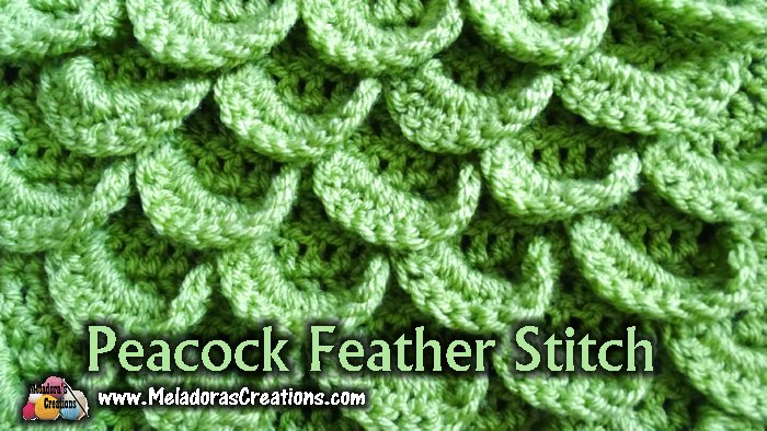 Peacock Feather Crochet Stitch Free Crochet Pattern And Tutorial