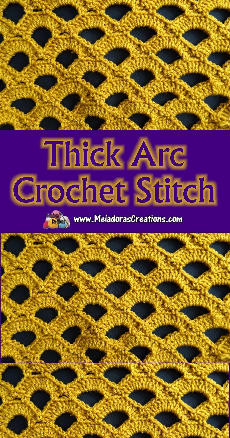 Lacy Crochet Stitch - Thick Arc Crochet Stitch - Free Crochet Pattern and Tutorial