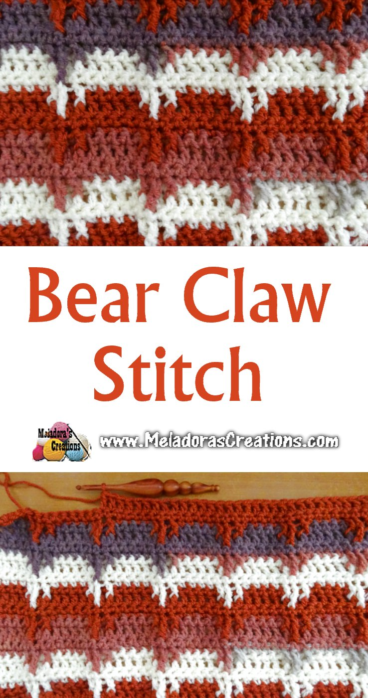 Crochet Stitch Pattern Bear Claw Crochet Stitch Free